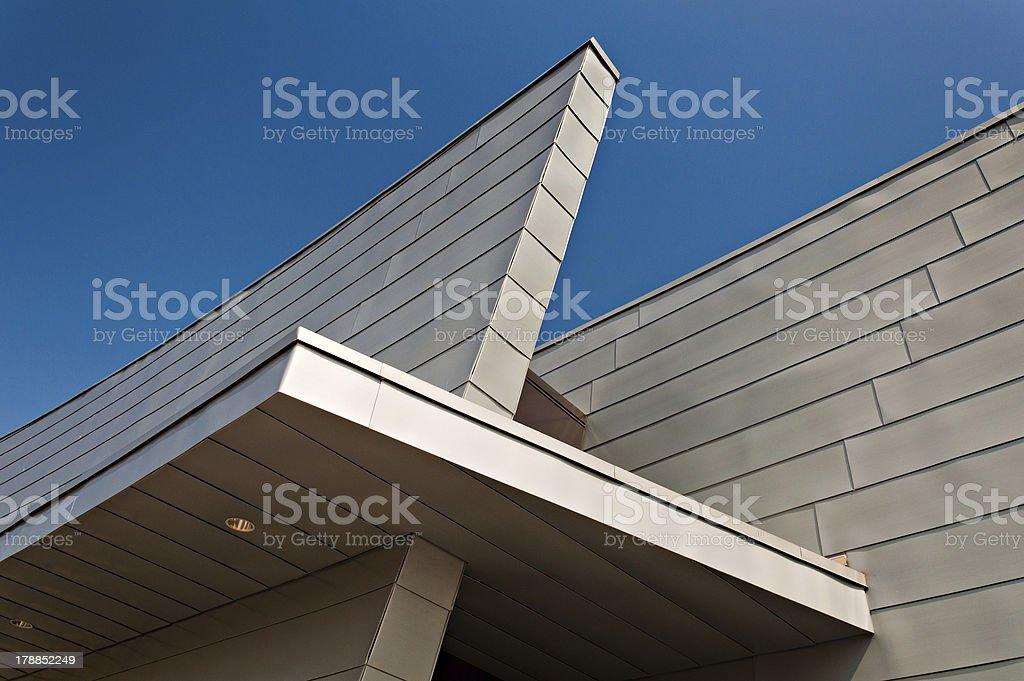 Architectural details of a modern building in Baltimore, Marylabd. royalty-free stock photo