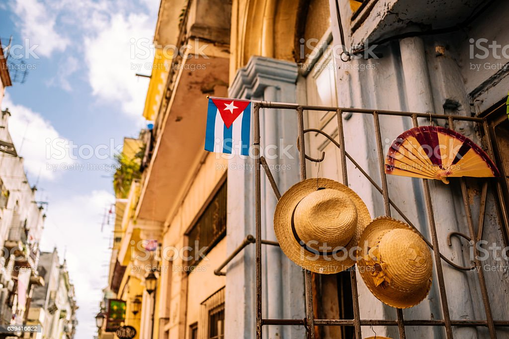 Architectural details of Havana stock photo