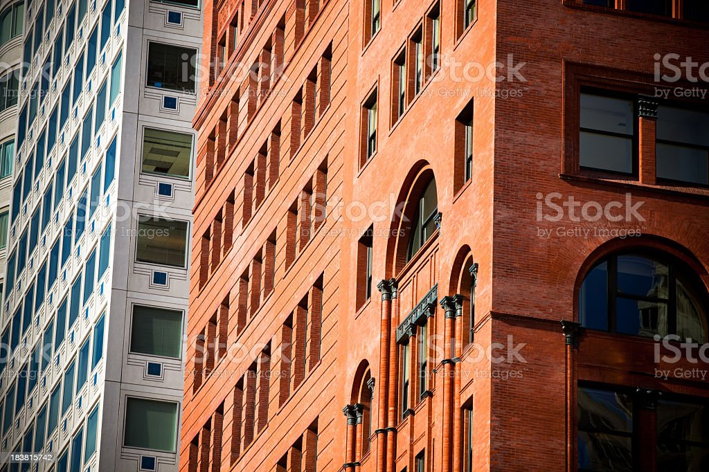 Architectural Details, San Francisco Financial District royalty-free stock photo