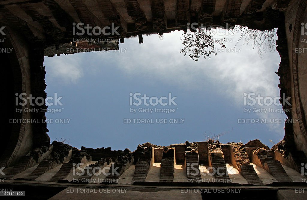 Architectural deterioration at the Fasiledes complex stock photo