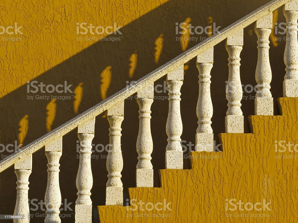 Architectural drama on your way up or down stock photo