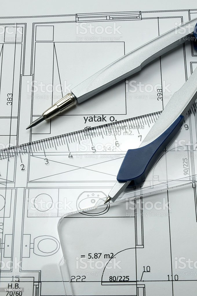 Architectural Drawing royalty-free stock photo