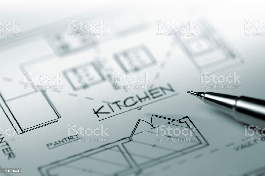 architectural drawing series royalty-free stock photo