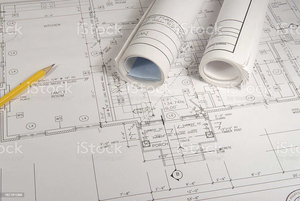 architectural drawings 13 royalty-free stock photo