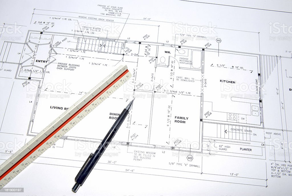 architectural drawings 81 royalty-free stock photo