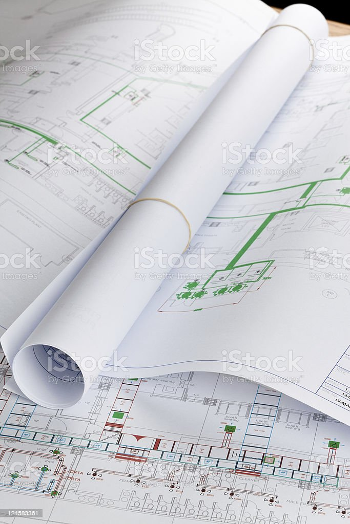 Architectural drawings royalty-free stock photo