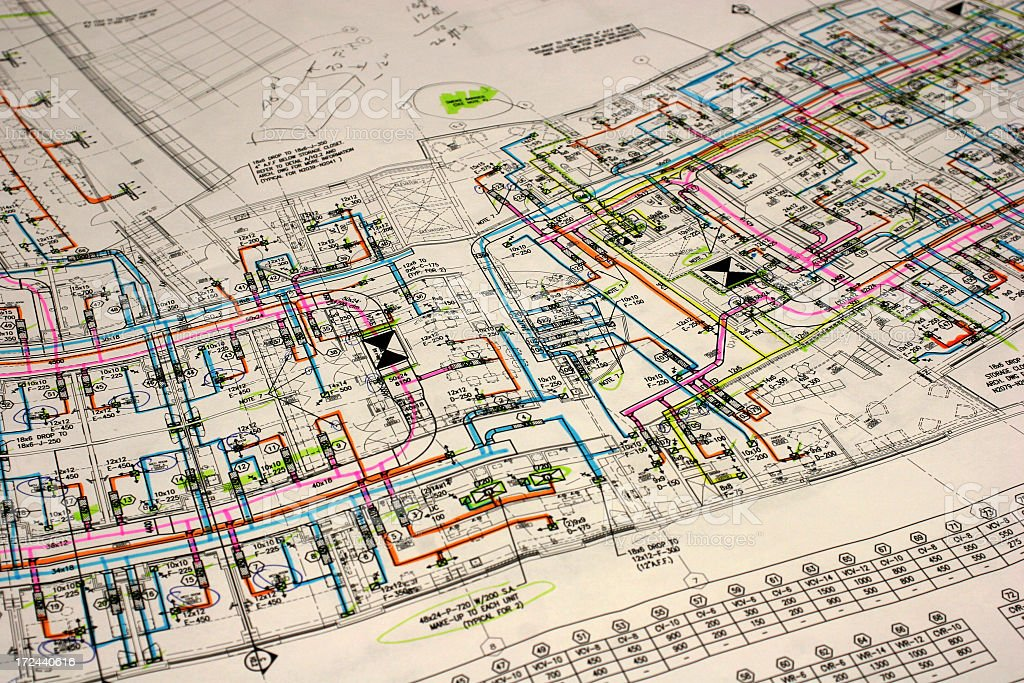 Architectural Drawings stock photo