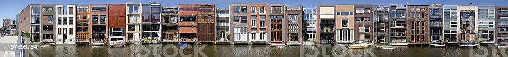 Architectural ensemble of houses royalty-free stock photo