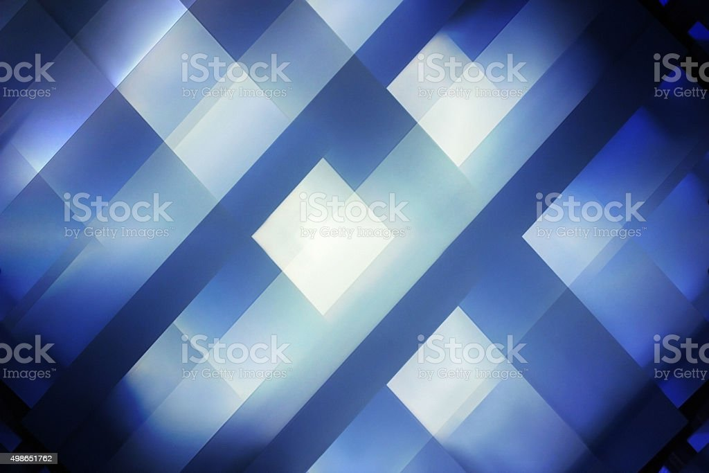Architectural etude. Multilevel ceiling with square windows. Abstract interior background stock photo