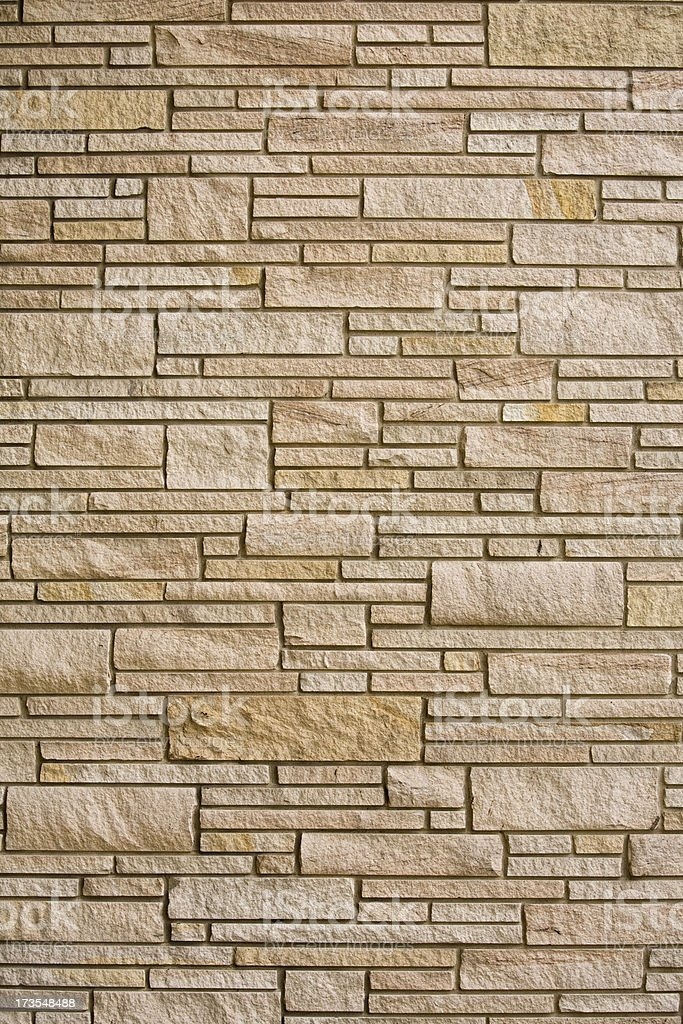 Architectural feature accent wall on a residential house royalty-free stock photo