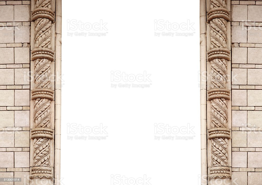 architectural frame and place for text on a white background stock photo