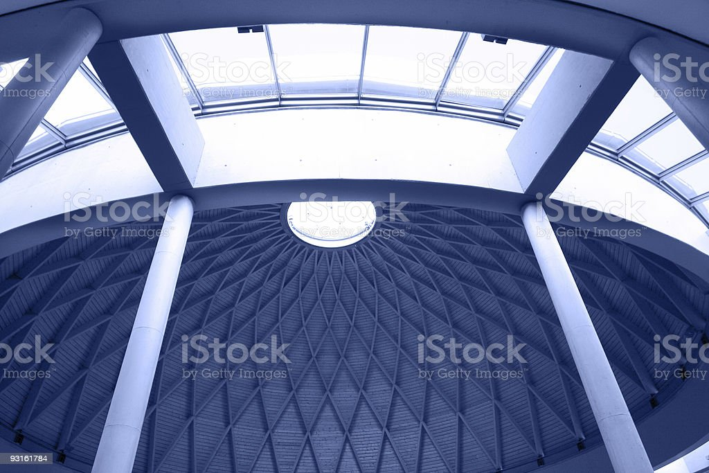 architectural geometry in blue royalty-free stock photo