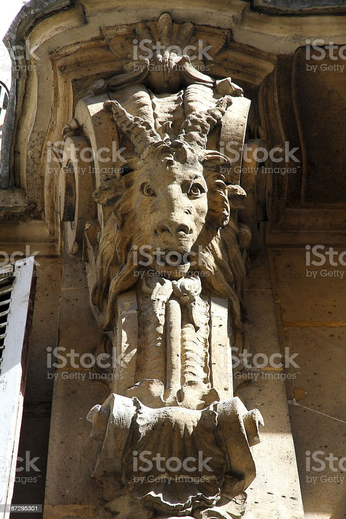 Architectural Goat royalty-free stock photo