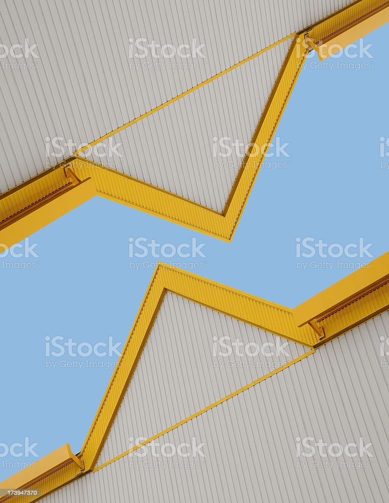 Architectural Industrial Abstraction stock photo