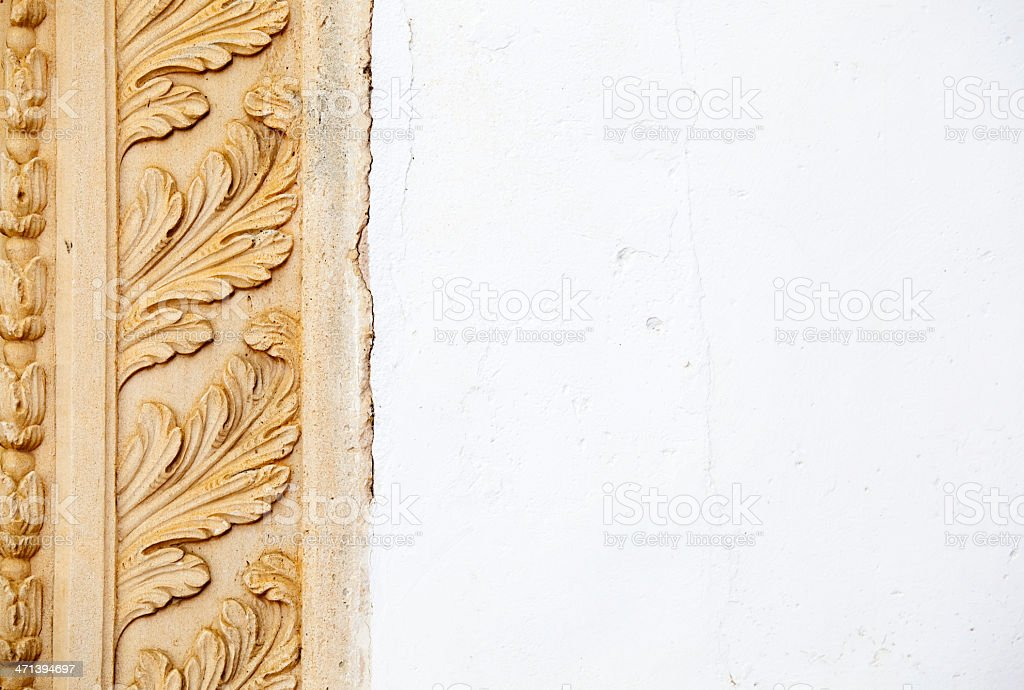 Architectural Leaf Moulding royalty-free stock photo
