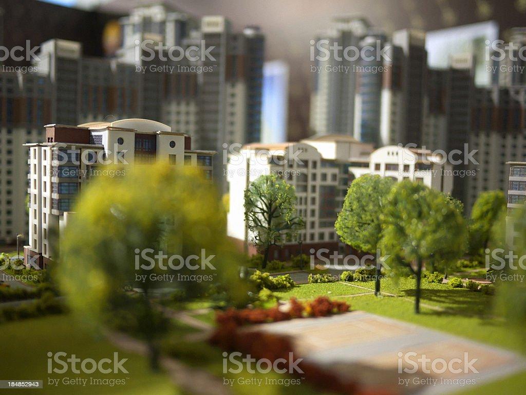 architectural maquette stock photo