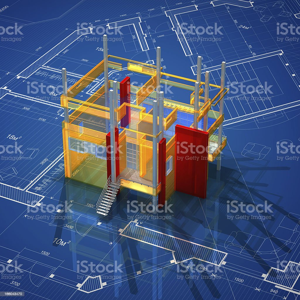 Architectural Model royalty-free stock photo