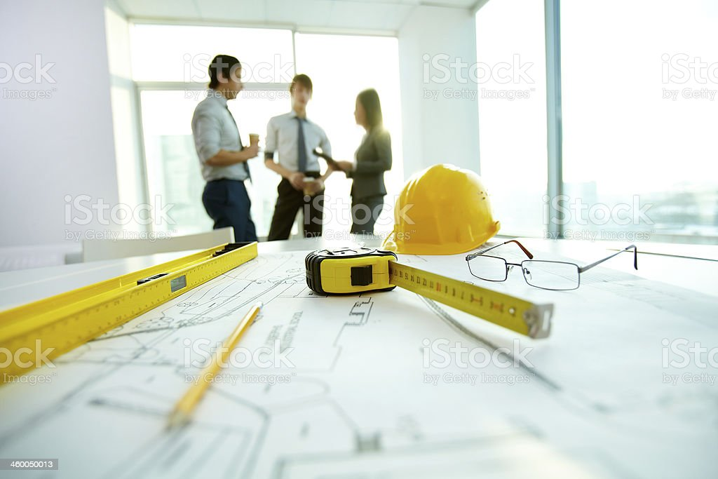 Architectural objects stock photo