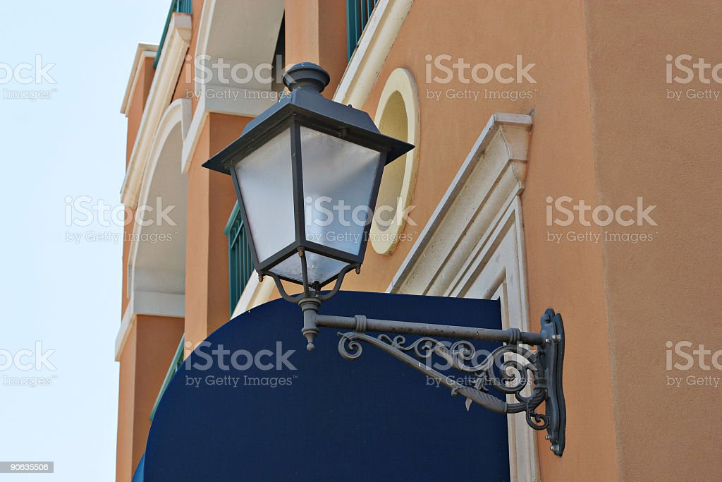 Architectural outdoor light fixture detail royalty-free stock photo