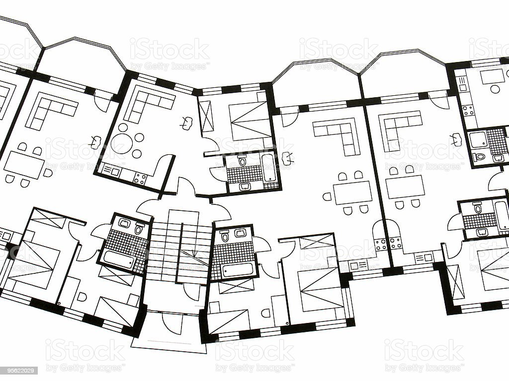 architectural plan 2 royalty-free stock photo