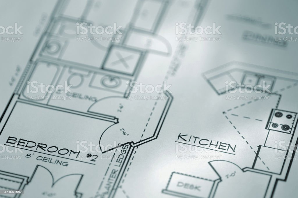 Architectural Plan For a Home royalty-free stock photo