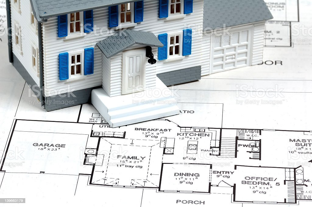 Architectural possibilities for a single home royalty-free stock photo