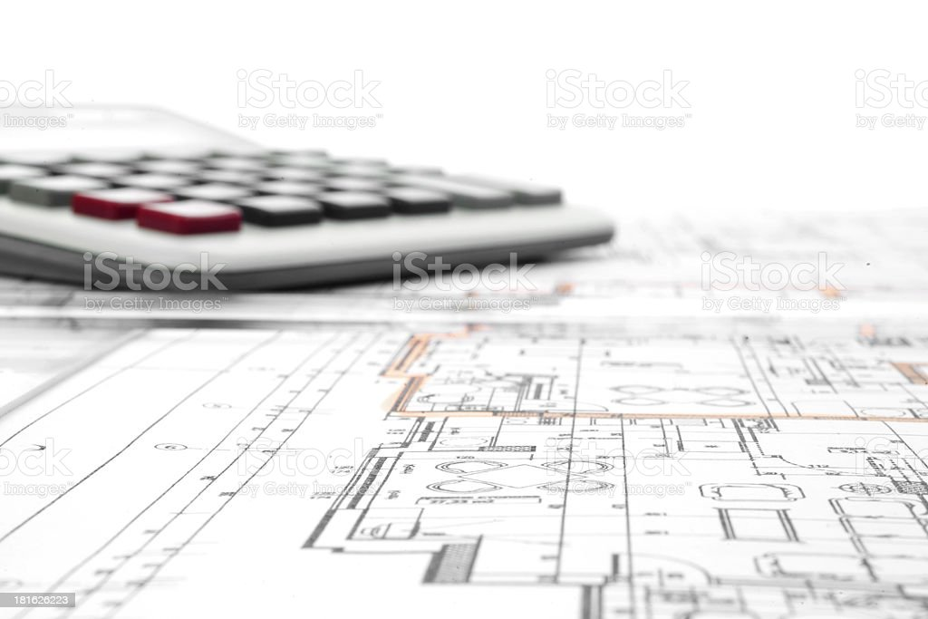 Architectural project royalty-free stock photo