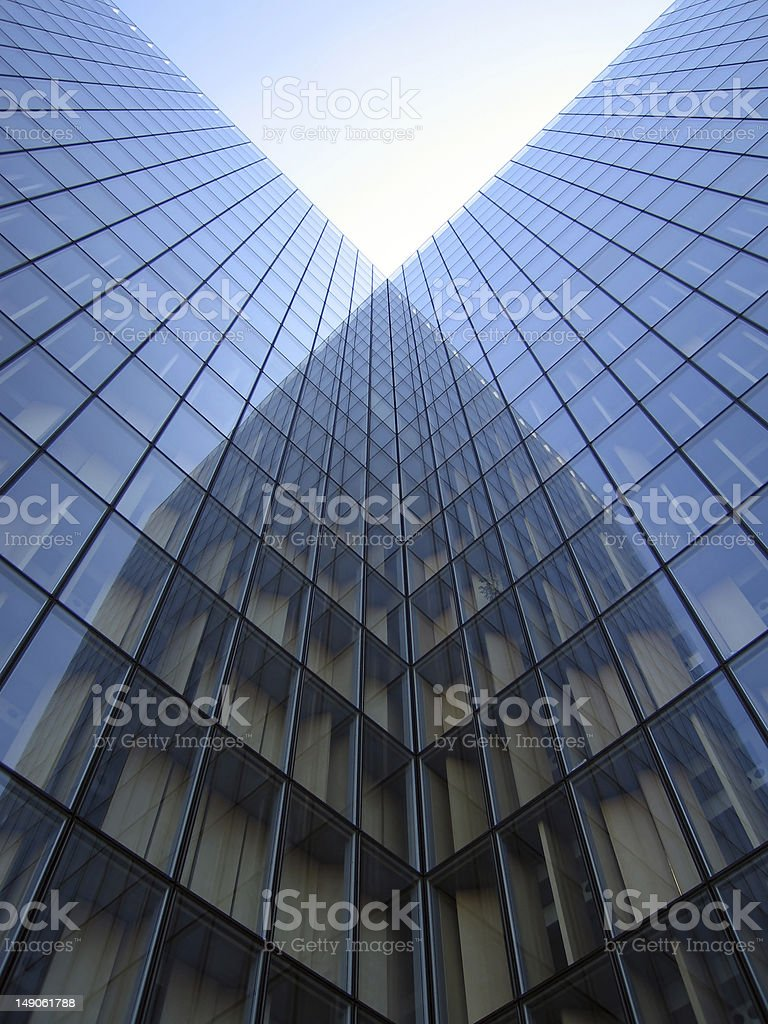 Architectural reflections royalty-free stock photo
