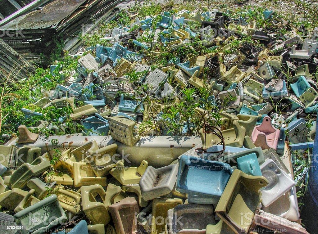 Architectural salvage yard stock photo