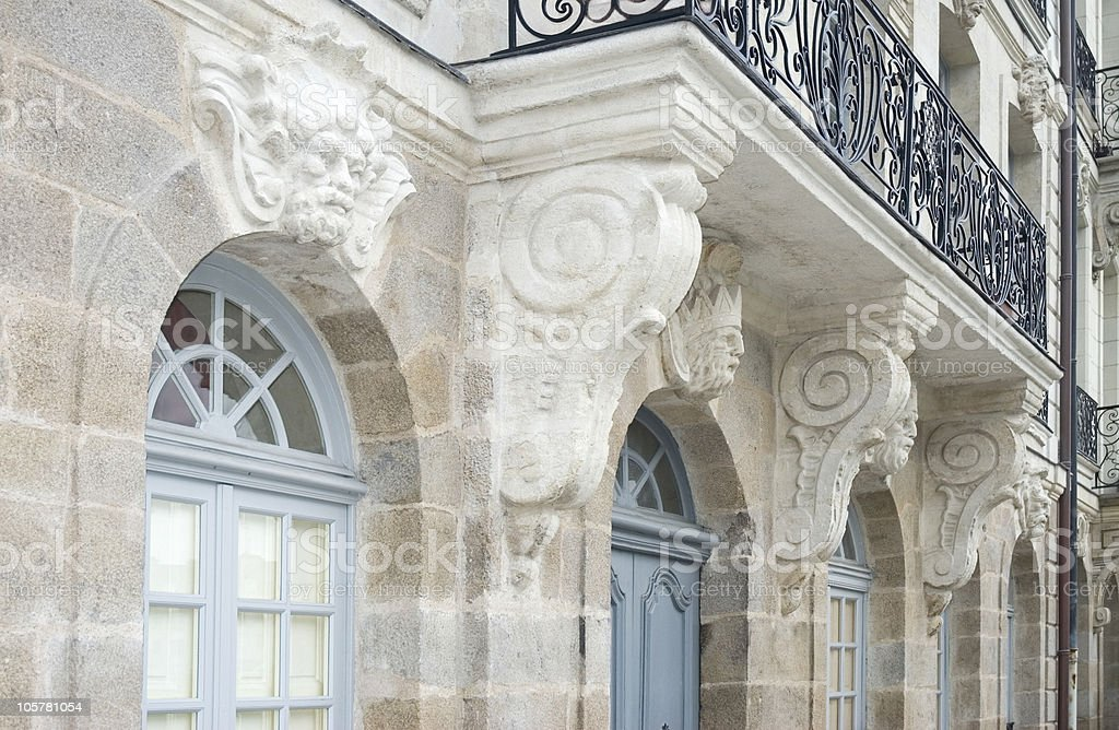 Architectural Sculptures stock photo