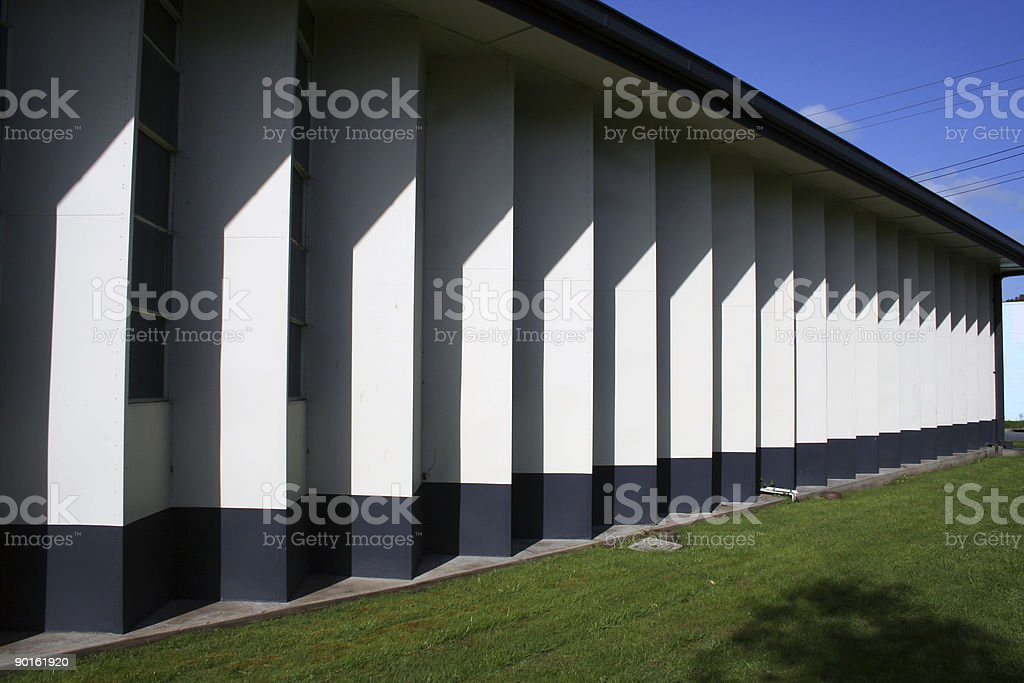 Architectural shadows royalty-free stock photo