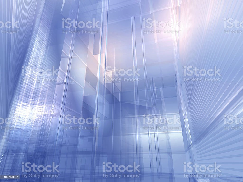 Architectural silver blue royalty-free stock photo