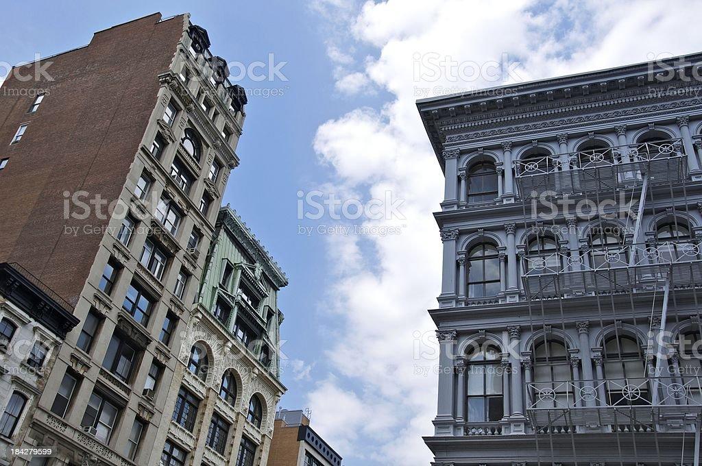 NYC Architectural styles cityscape, SOHO Manhattan stock photo