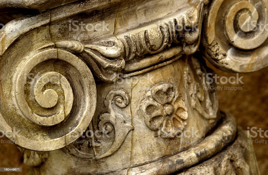 Architectural work on column royalty-free stock photo
