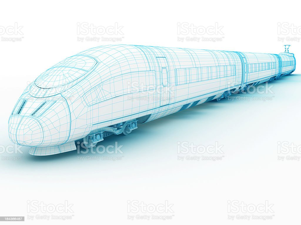 3D architecture abstract High speedTrain 1 stock photo