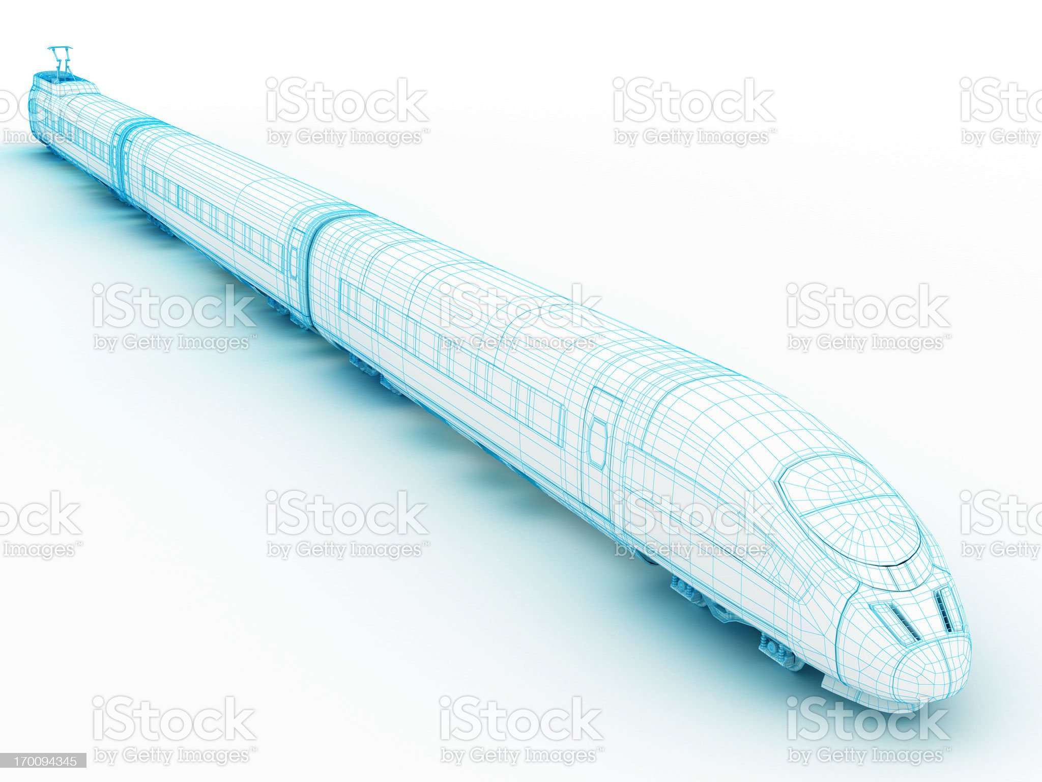 3D architecture abstract High speedTrain 2 royalty-free stock photo
