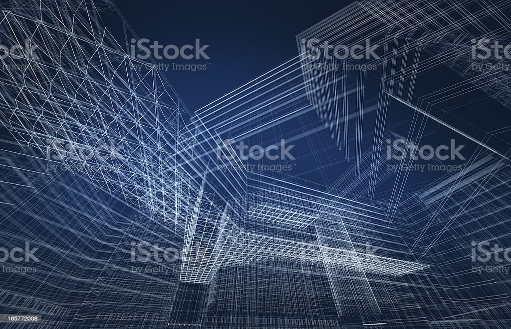 3D architecture abstract royalty-free stock vector art