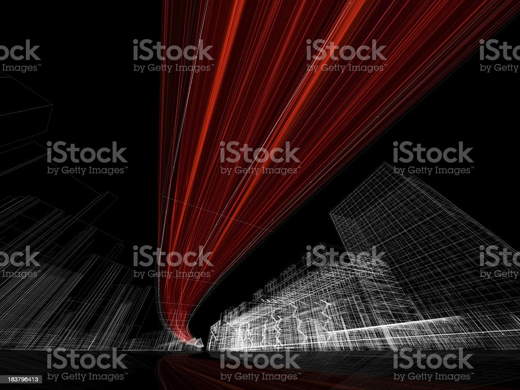3D architecture abstract royalty-free stock photo