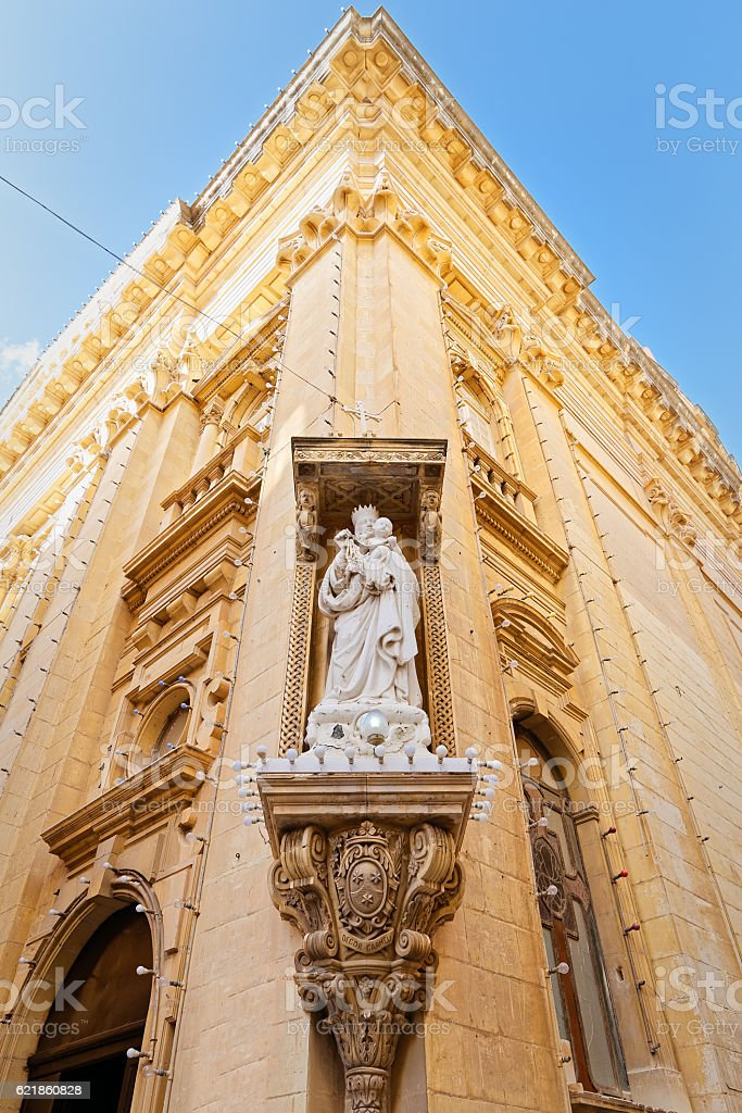 Architecture and religious devotion in Malta stock photo