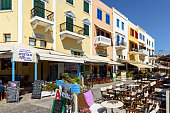 Architecture and taverns of Chania town, Crete island