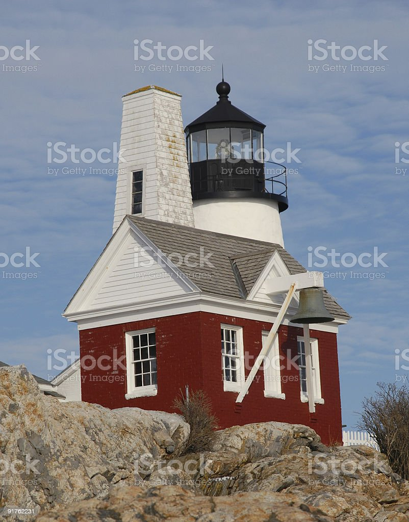 Architecture at Pemaquid Point Lighthouse stock photo