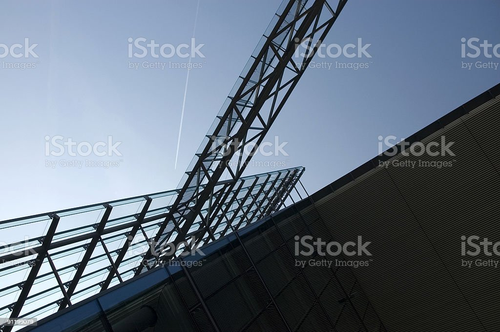 architecture at the potsdamer platz in berlin, germany stock photo