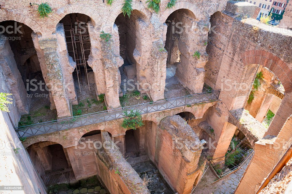 Architecture at the Roman Forum in Rome, Italy stock photo