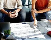 Architecture Blueprint Business Research Strategy Concept