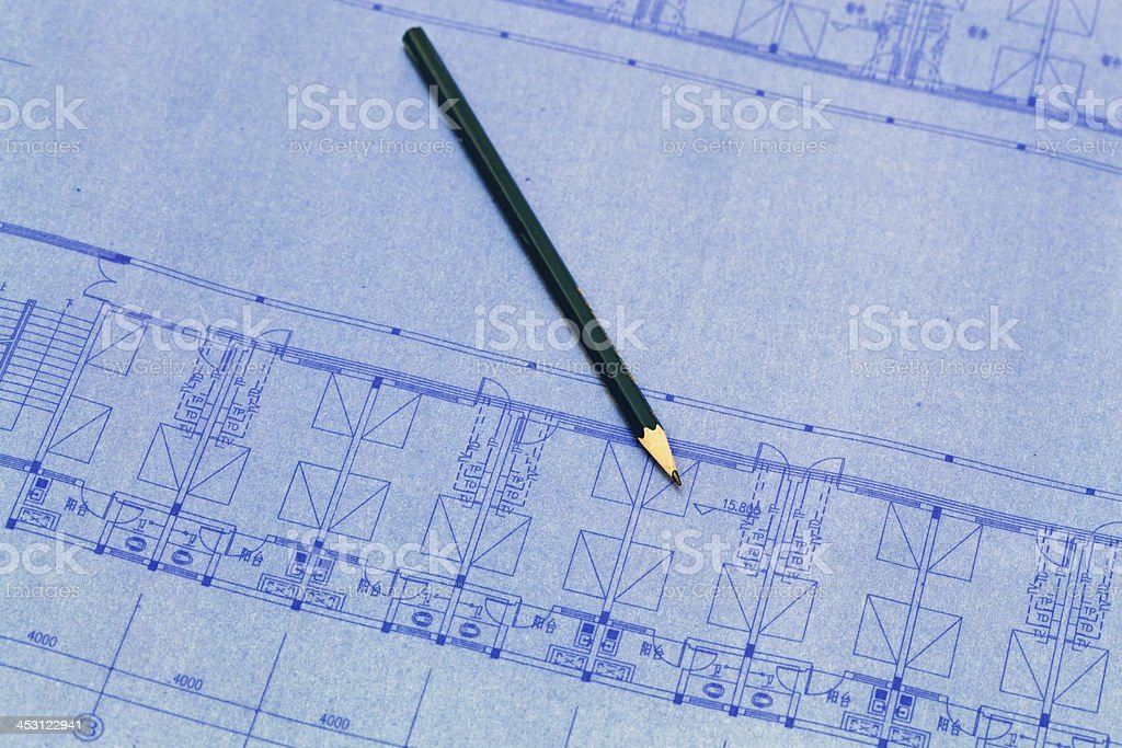 Architecture blueprint detail royalty-free stock photo