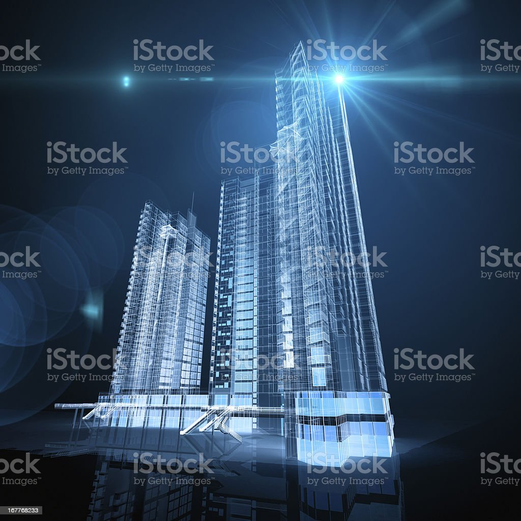Beautiful Architecture Blueprints Skyscraper With Decorating Ideas