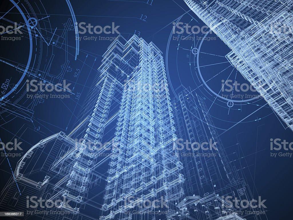 Architecture Blueprint stock photo