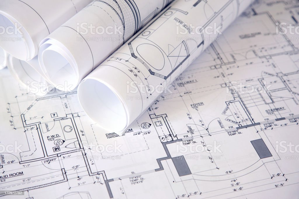 Architecture Blueprint royalty-free stock photo