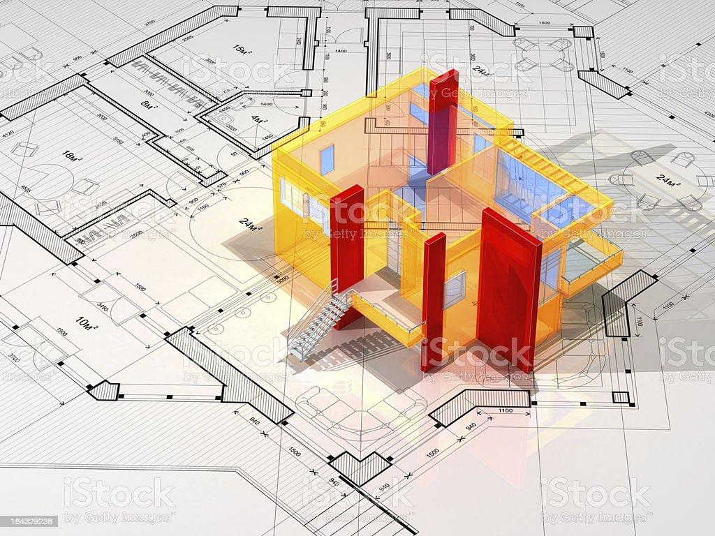 Architecture Blueprint royalty-free stock photo