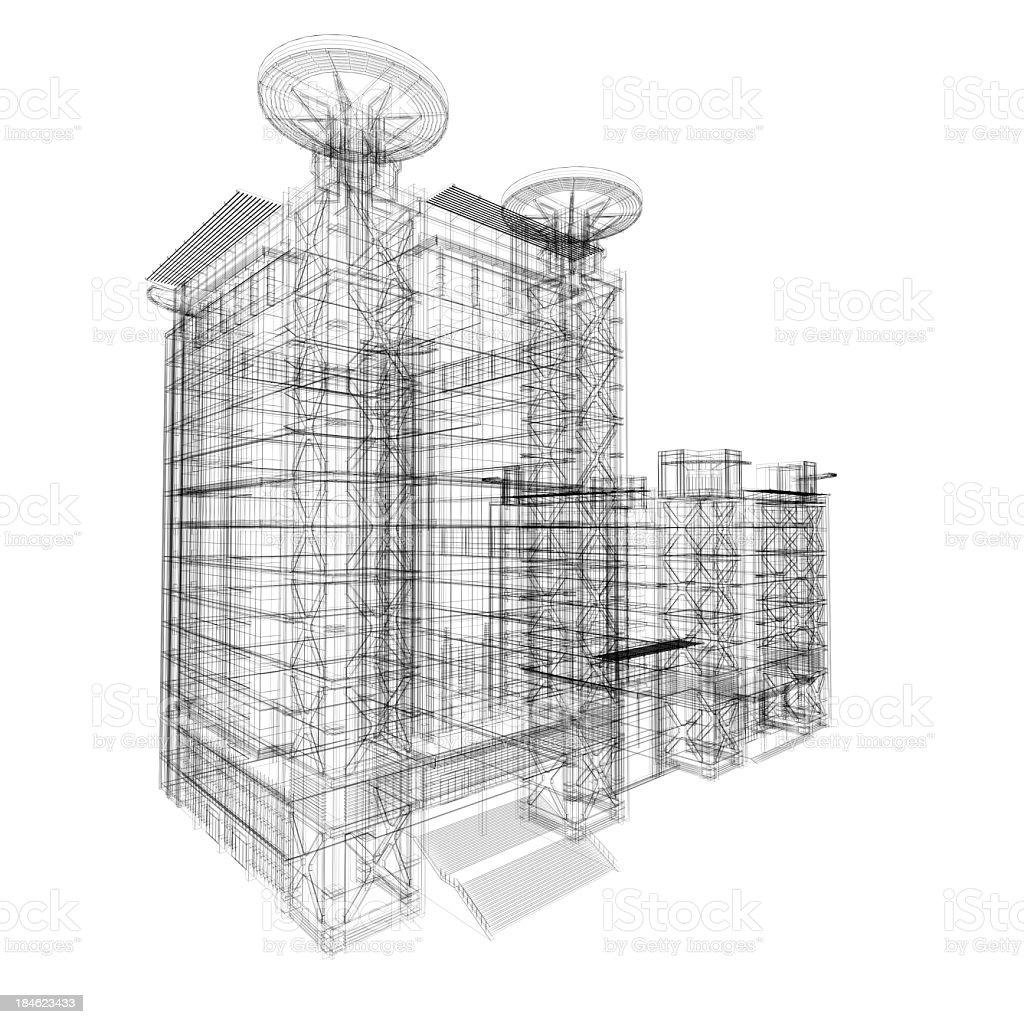 architecture blueprints skyscraper. Architecture Blueprints Skyscraper Stock Photo Blueprint